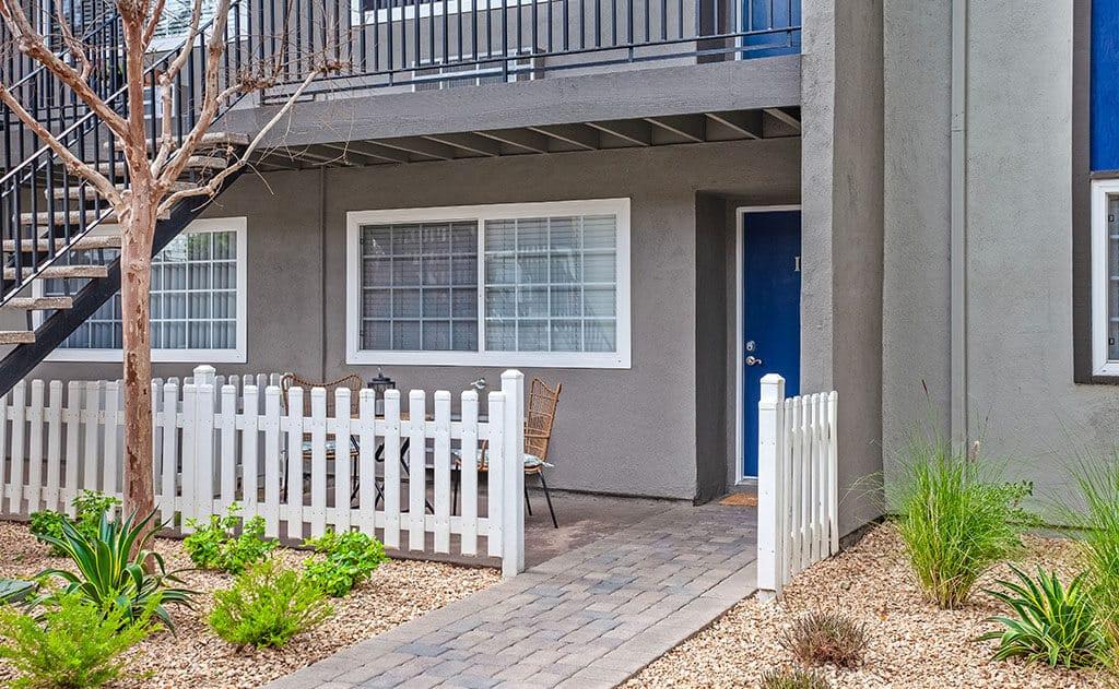 Spacious patios with vinyl fencing